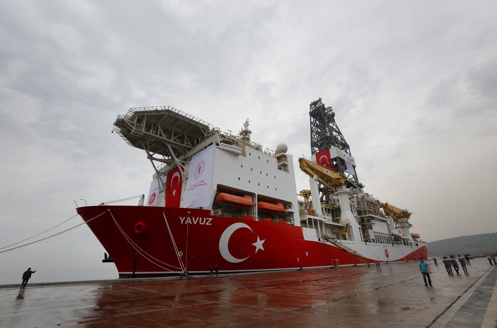 """Вторият турски сондажен кораб - """"Явуз"""" отплава към Кипър, 20 юни 2019 г."""