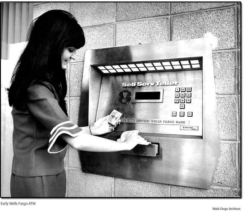Един от първите банкомати в САЩ