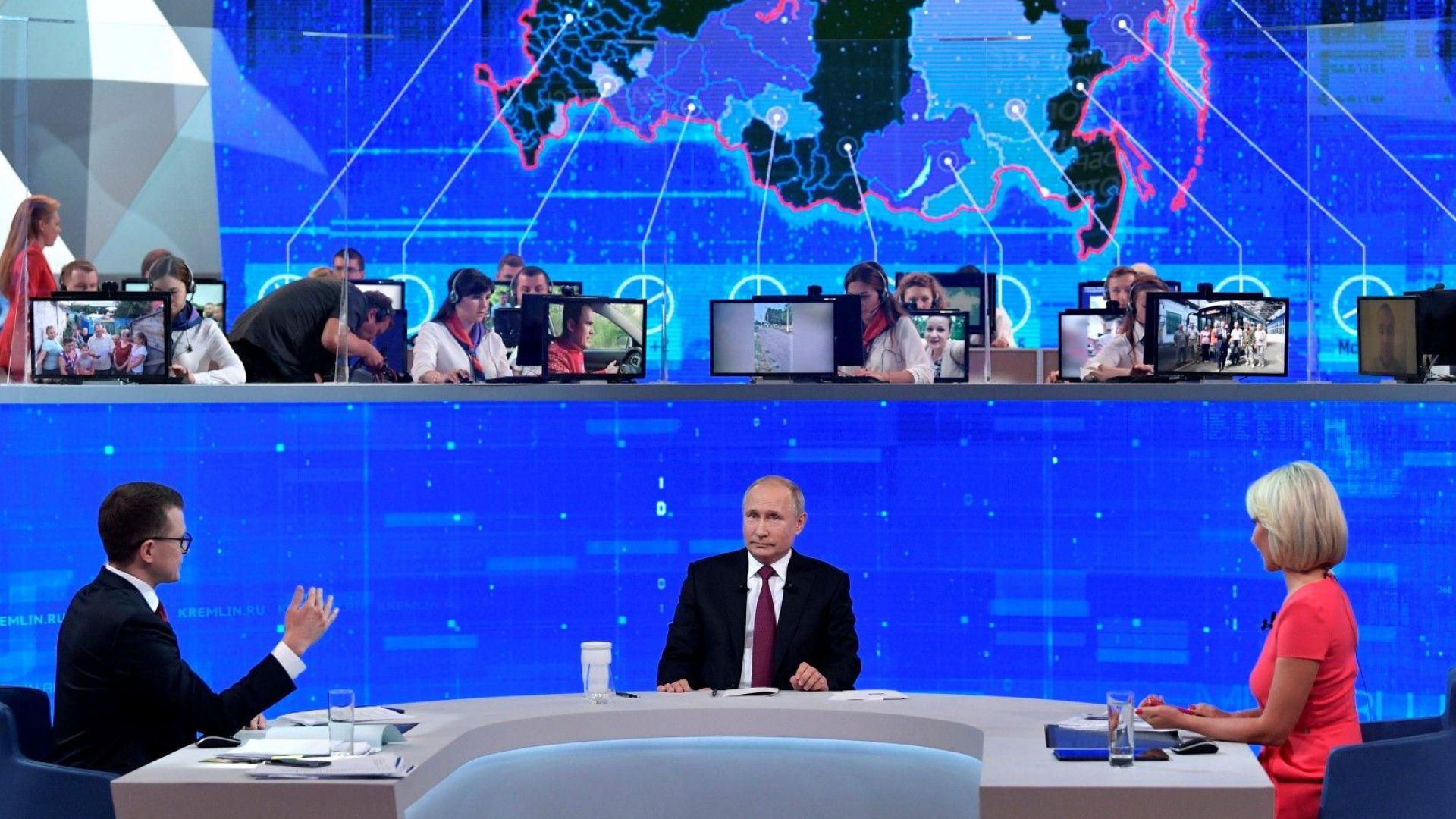 Противоборството със Запада и Украйна, оръжия, СССР: За какво още питаха руснаците Путин и какво им отговори той
