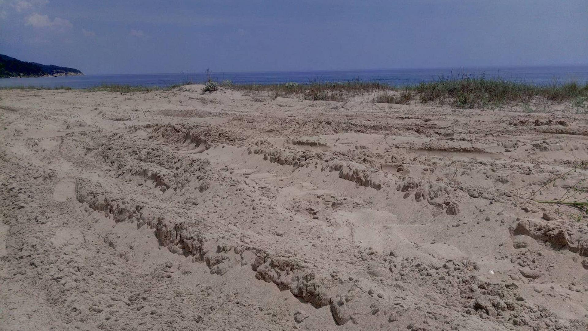 Багер разора дюни на Камчия, екоминистърът нареди проверка