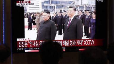 Нова епоха - Ким Чен-ун прие в Пхенян Си Цзинпин пред хиляди корейци