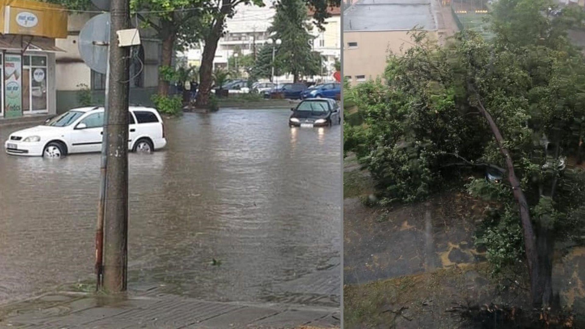 Летните порои наводниха и Козлодуй (снимки)