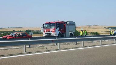 """Семейство загина в тежка верижна катастрофа на магистрала """"Тракия"""""""