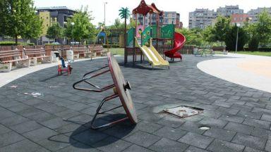 Вандали вилнеят на детска площадка в Пловдив