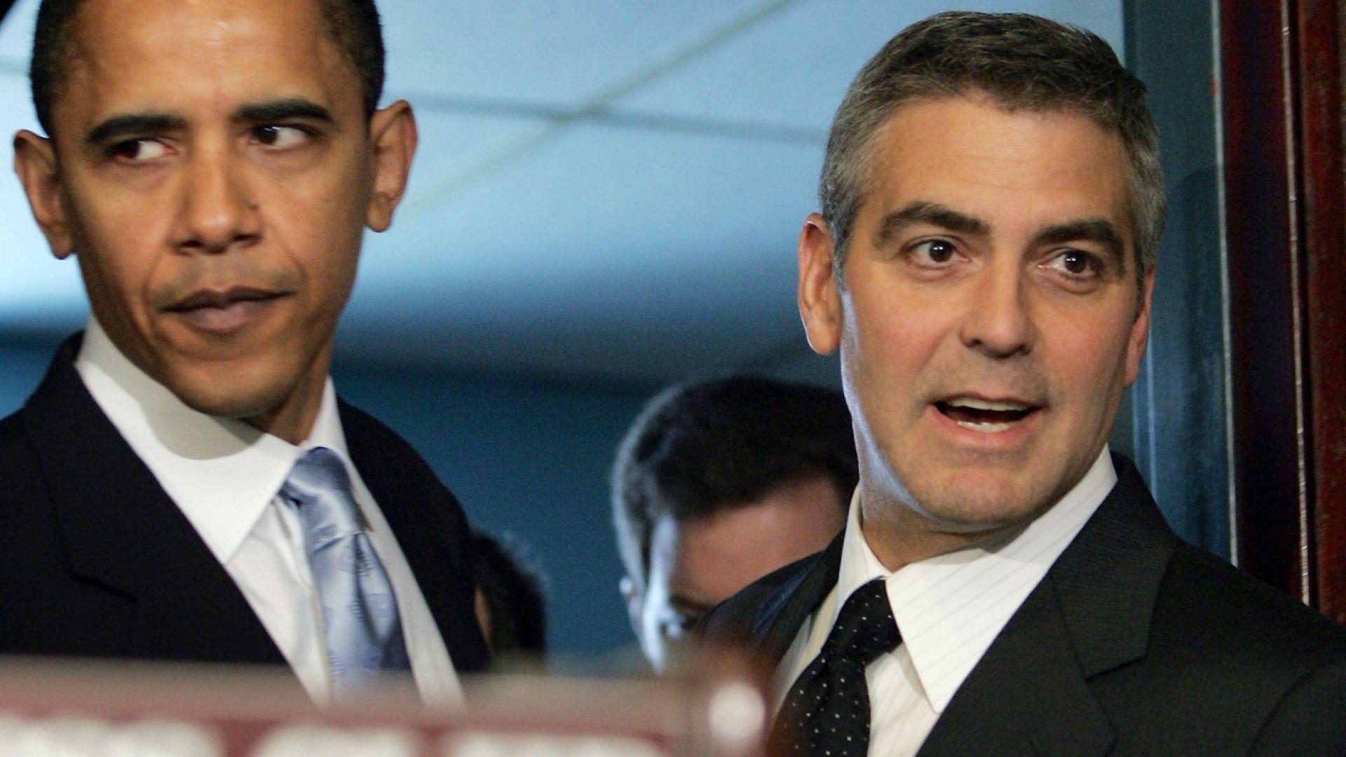 Клуни повози Обама на лодка в езерото Комо (снимки)