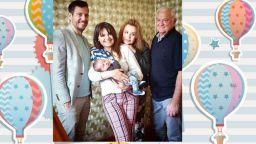 Аня Пенчева и Сашо Диков с внука си на снимка