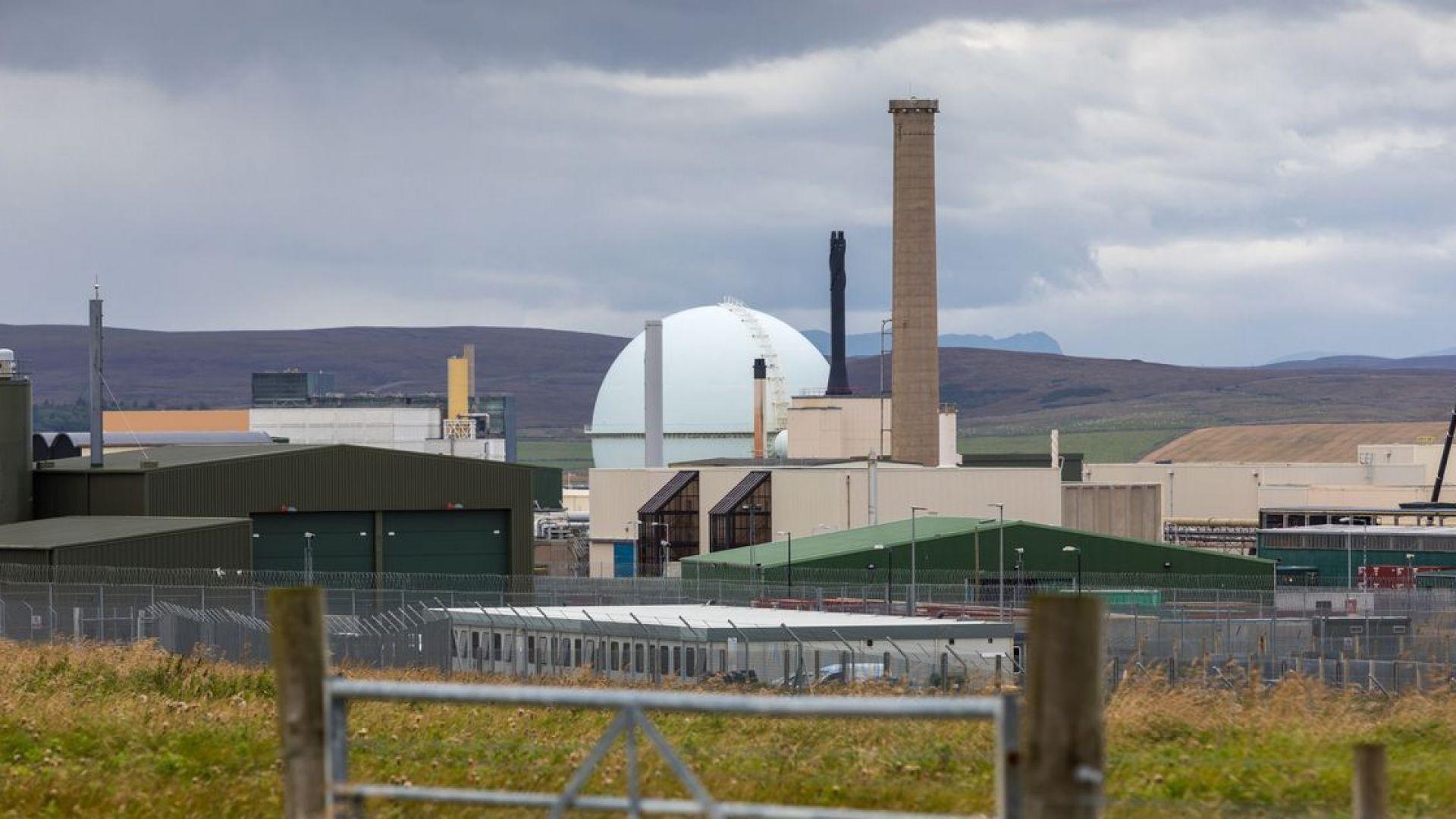 Евакуираха атомна централа в Шотландия заради радиоактивно замърсяване