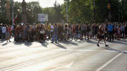 """Протестиращи от """"Бетономорие"""" блокираха Орлов мост"""