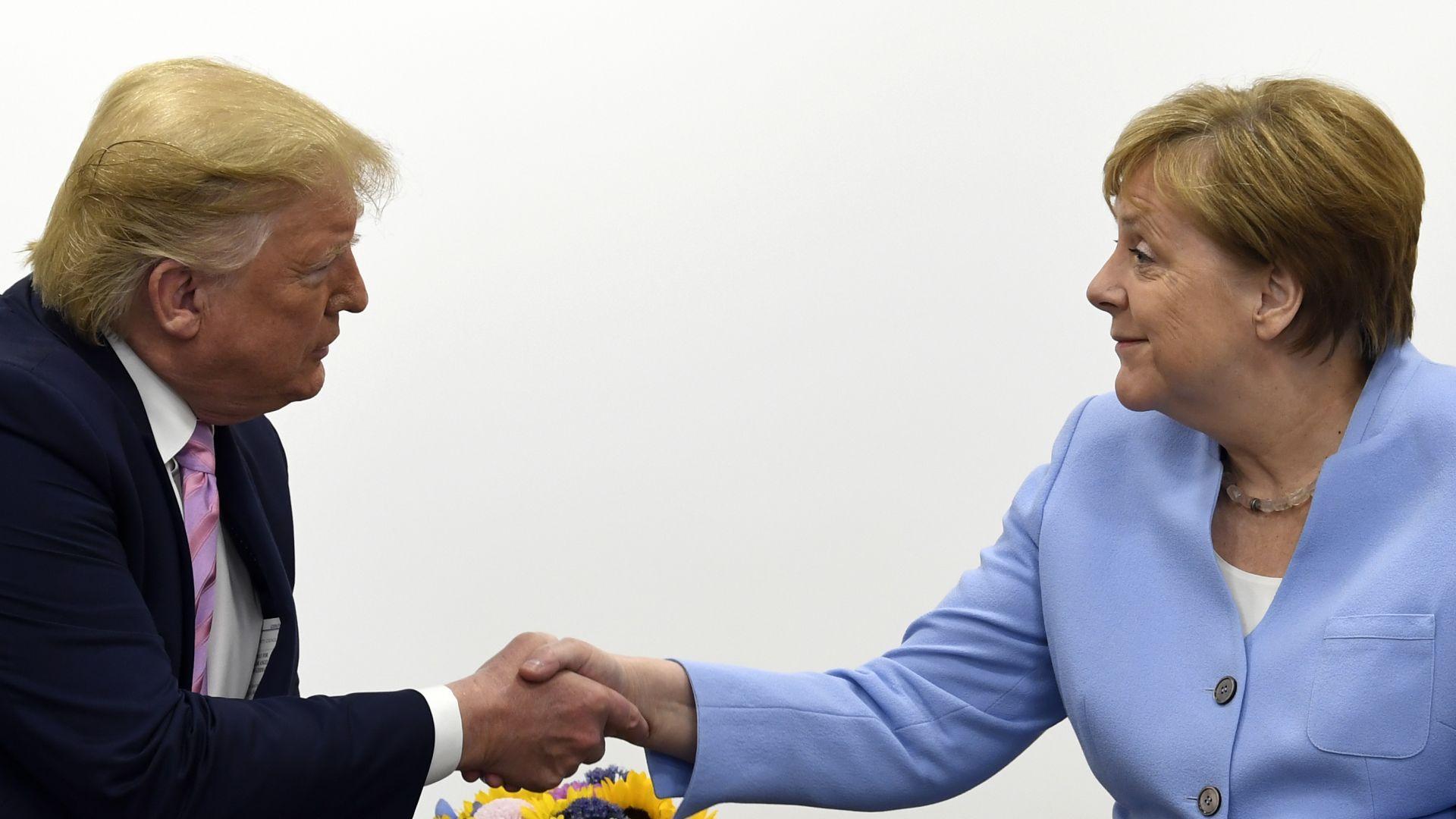 """Тръмп засипа Меркел с комплименти, но отново я смъмри за """"Северен поток 2"""""""