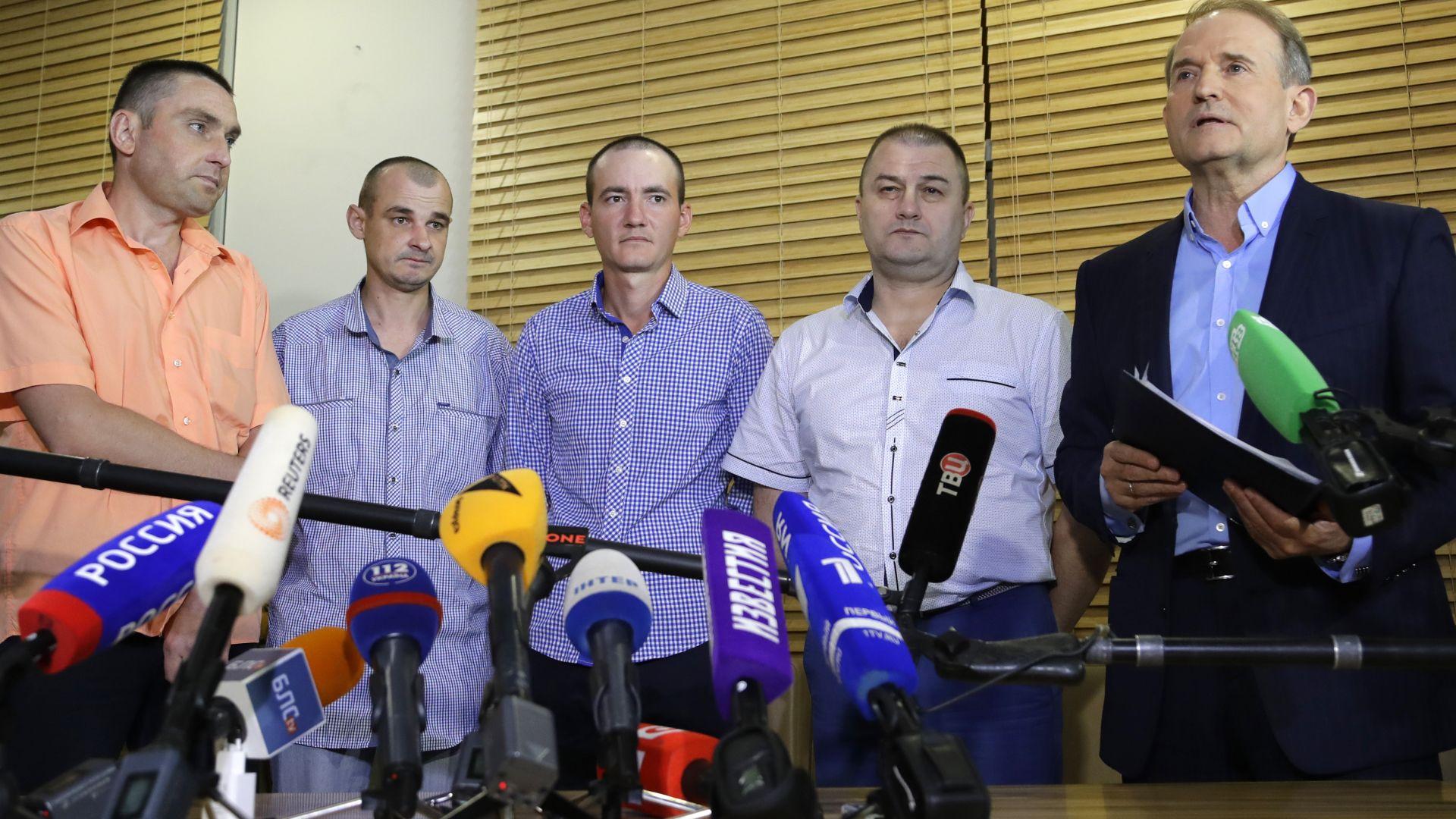 Четирима украинци бяха освободени от сепаратистки плен