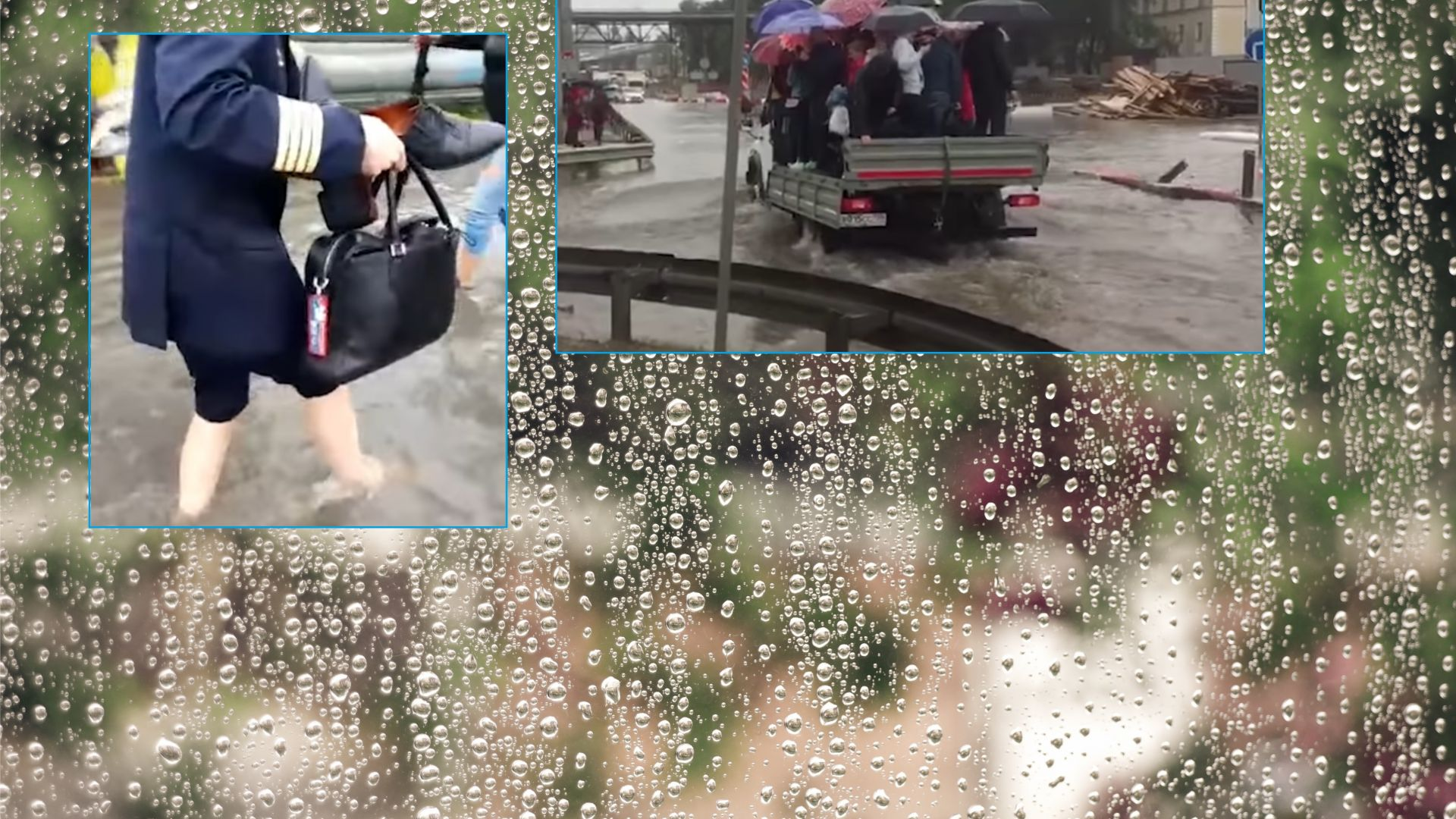 """Порой превърна в море """"Шереметиево"""", наводнения в Русия взеха жертви (видео)"""