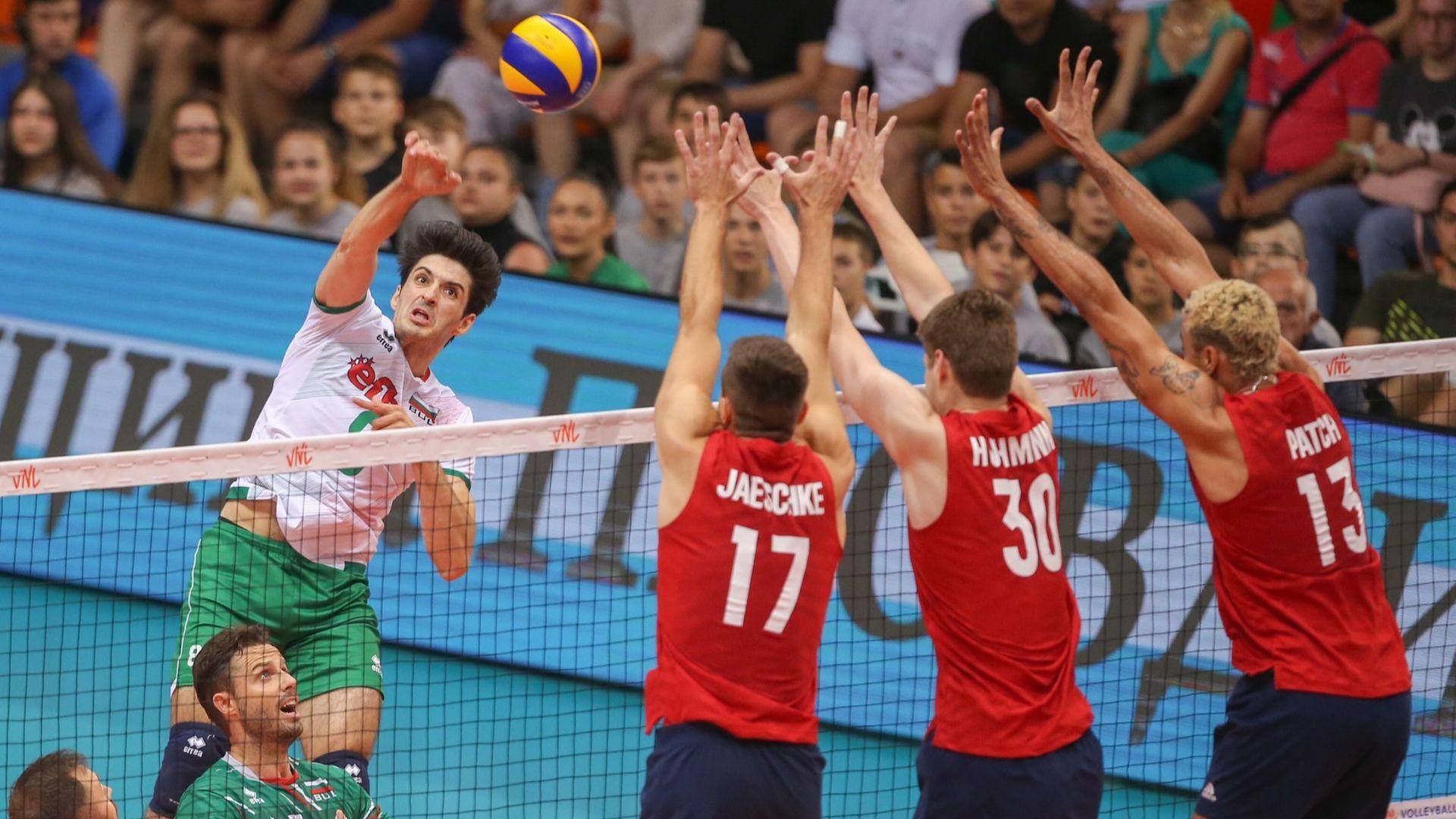 България удари сладко САЩ в исторически мач в Пловдив