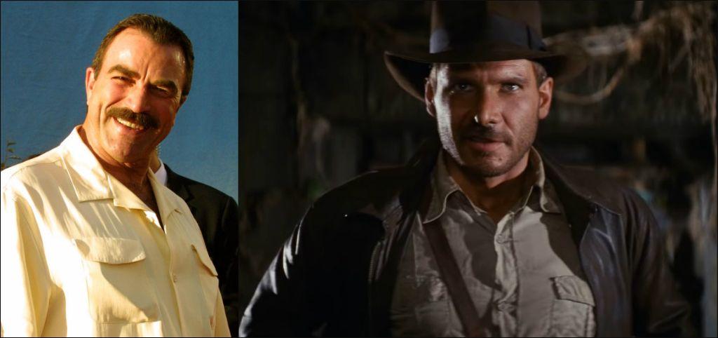 """Том Селек / Харисън Форд в ролята на Индиана Джоунс - """"Похитителите на изчезналия кивот"""""""