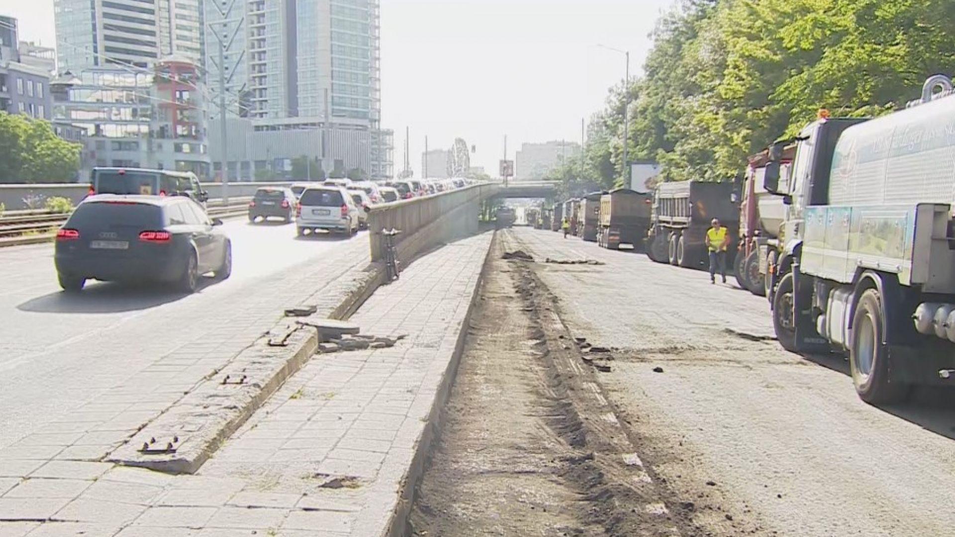 """Започна ремонтът на столичния булевард """"България"""""""