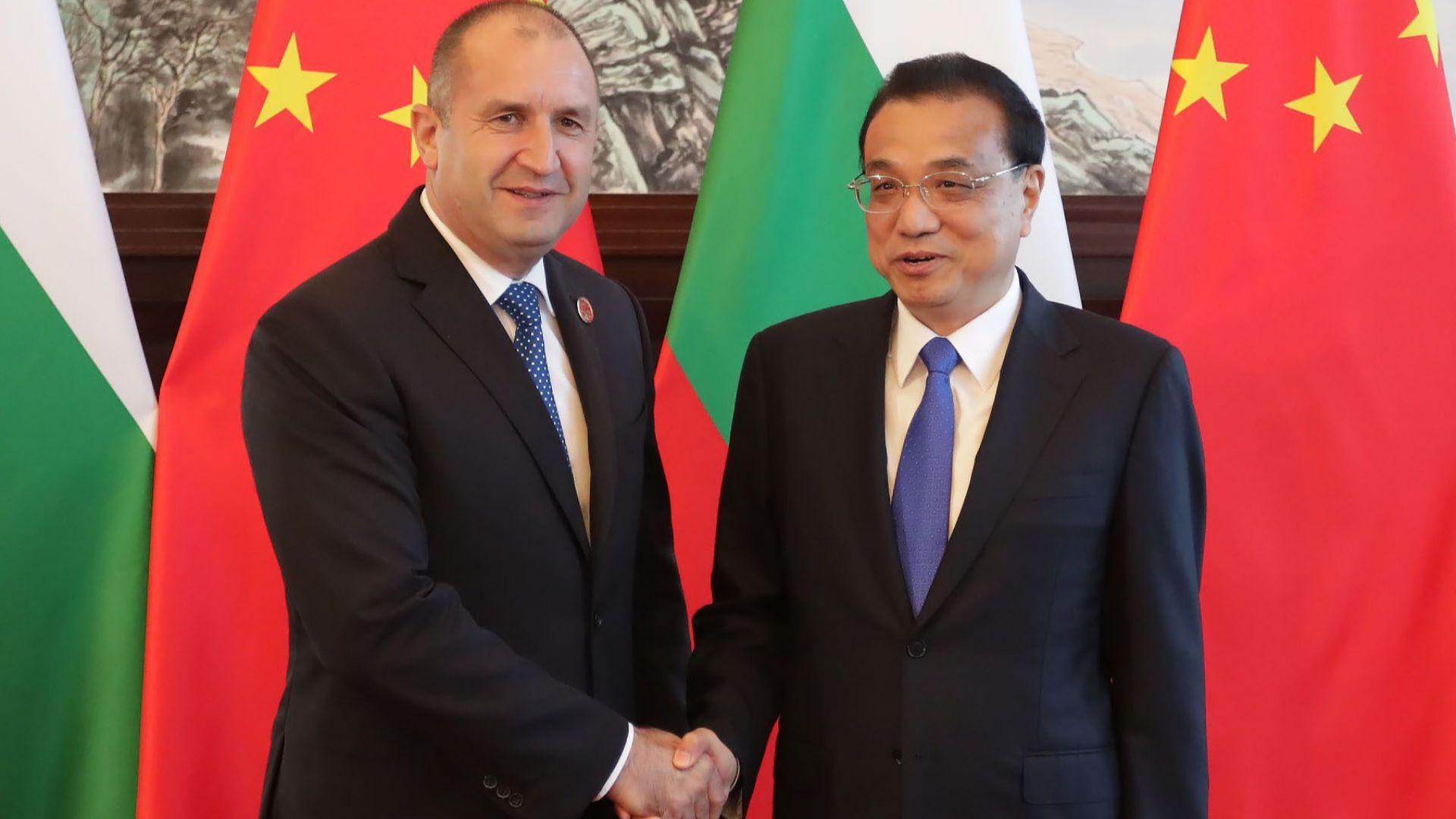 """Радев: България все още е """"бяло петно"""" на картата на китайските инвестиции"""