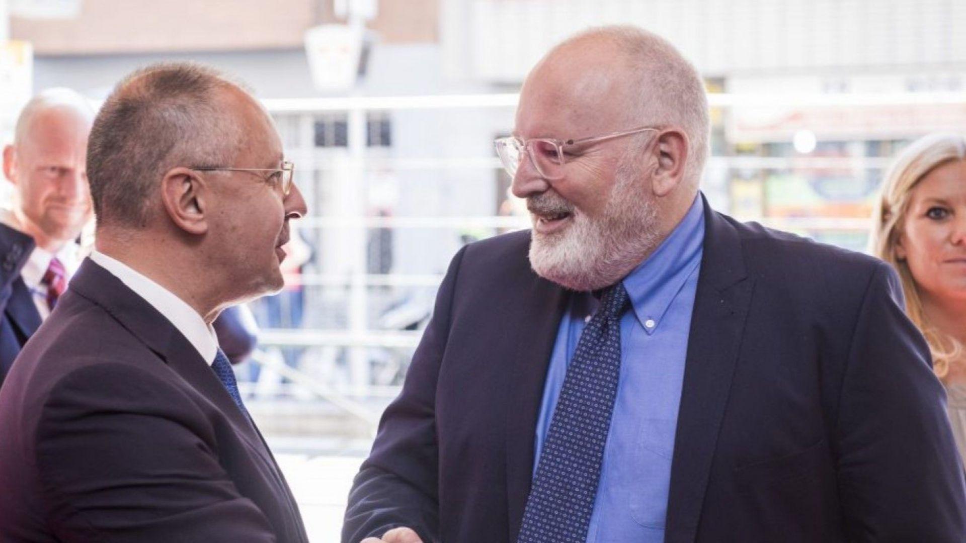 Станишев: Тимерманс шеф на ЕК - това ще е шанс за България и ново начало за Европа