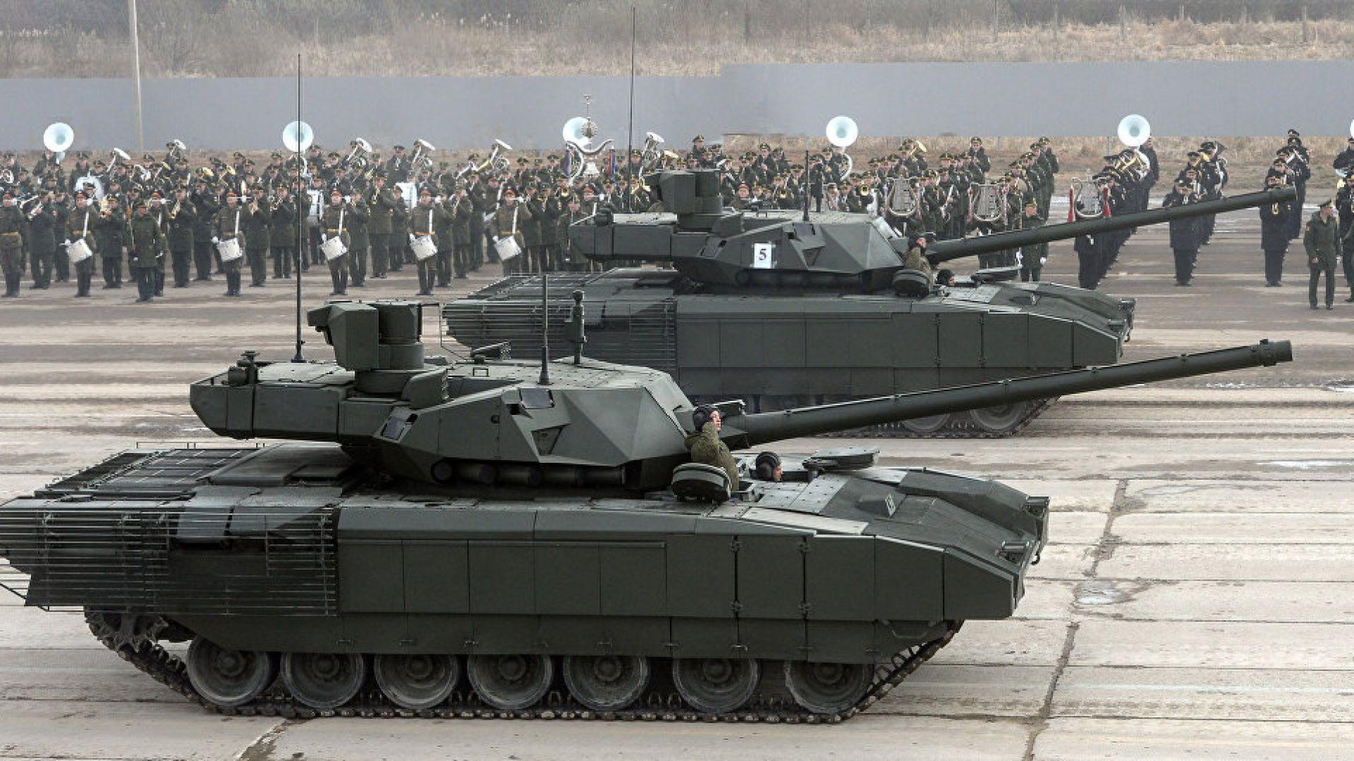 """Русия тества най-новия танк Т-14 """"Армата"""" в Сирия"""