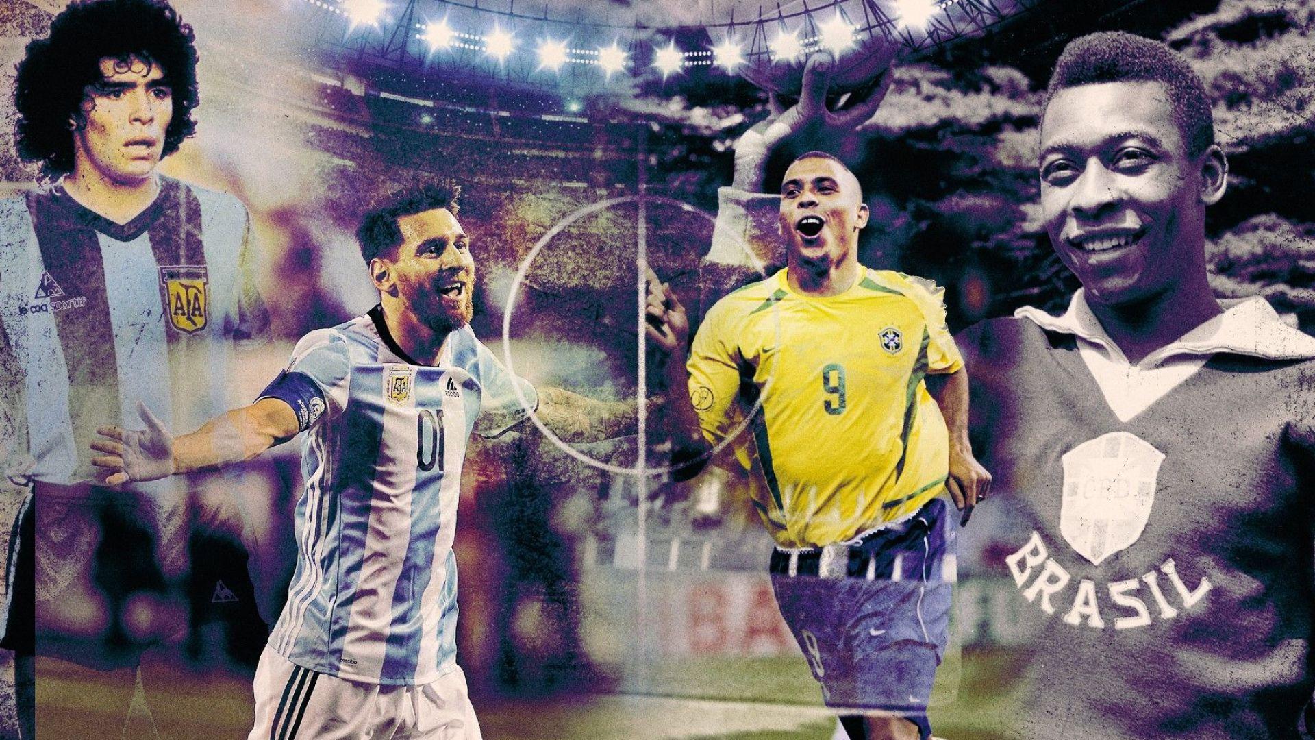 """Вместо """"Златна топка"""": Събират на една сцена Пеле, Марадона, Меси и Роналдо"""