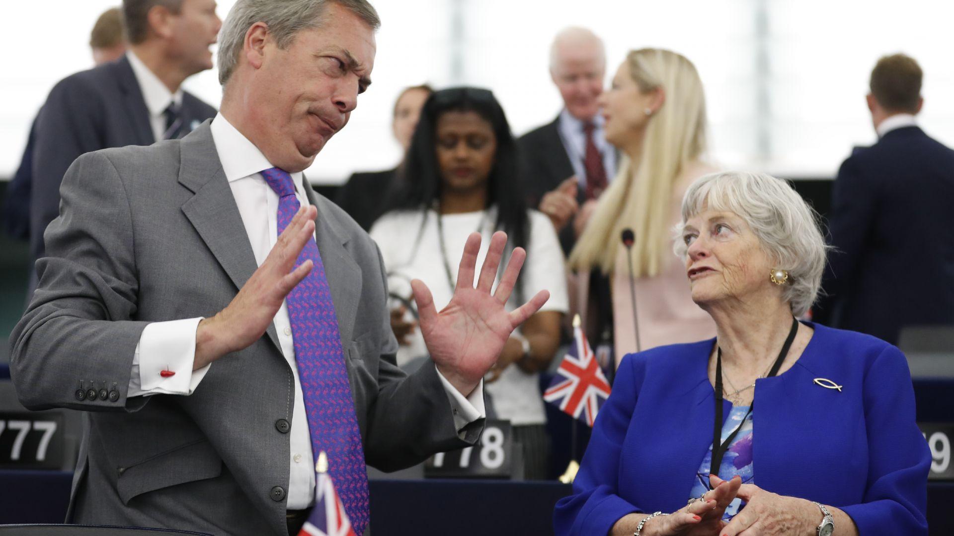 Найджъл Фараж, лидерът на новата британска Брекзит партия, заяви, че