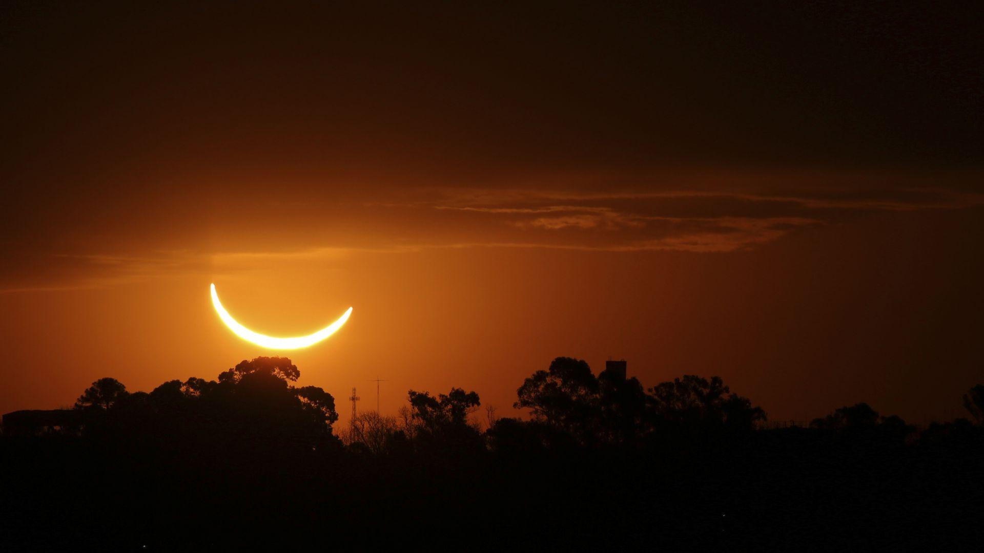Пръстеновидно слънчево затъмнение над Африка и Азия през уикенда