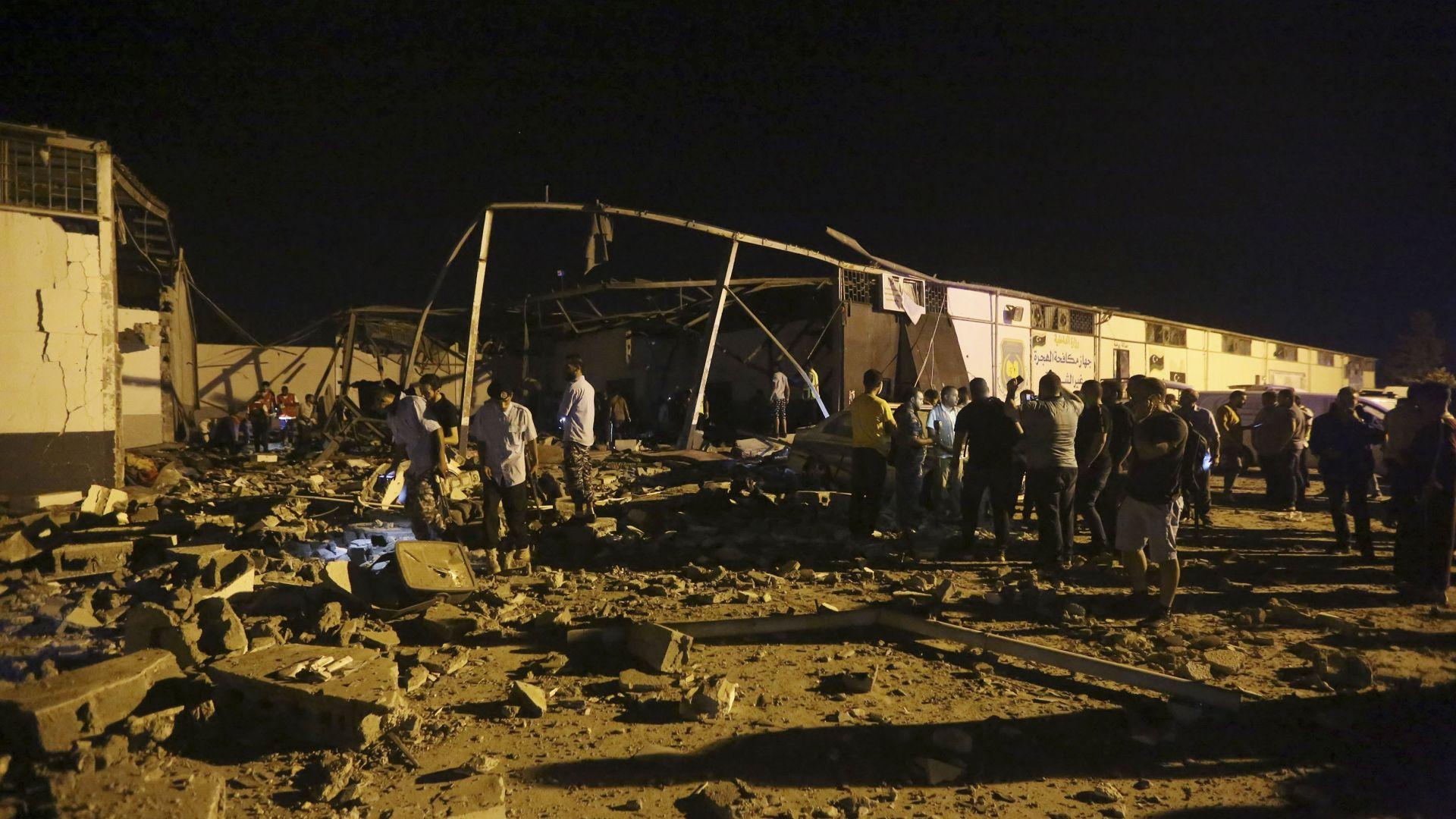 Най-малко 40 жертви и над 80 ранени при въздушен удар в Триполи (видео)