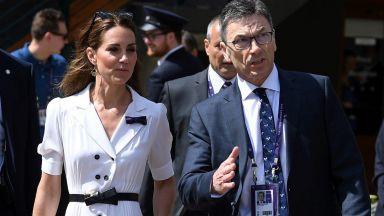 Кейт с изненадваща поява в бяло на Уимбълдън