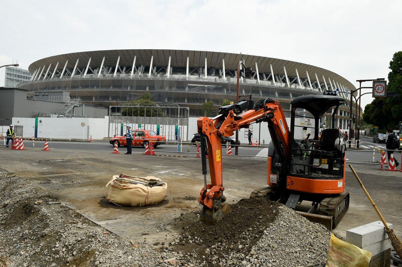 Инфраструктурата около New National Stadium е близо до завършения си вид