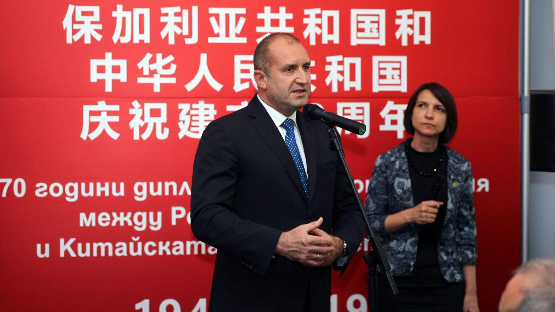 """Радев пред """"Global Times"""": На шега казваме, че България първа е признала Китайската народна република"""