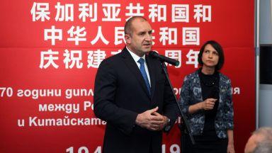 """Радев за """"Global Times"""": Шегуваме се, че България първа е признала Китайската народна република"""