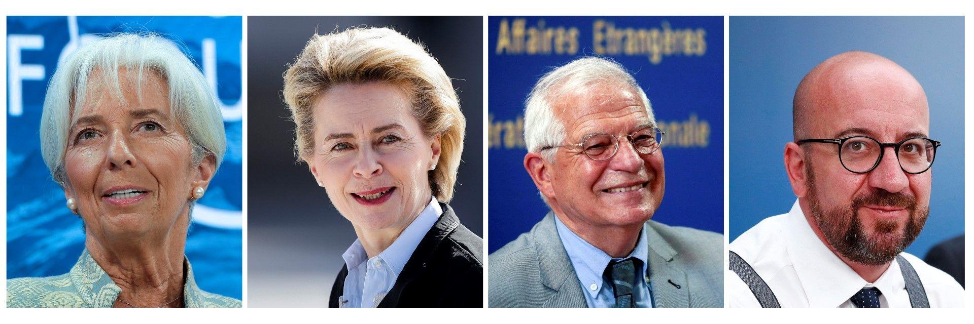 Кристин Лагард, Урсула фон дер Лайен, Жозеп Борел и Шарл Мишел - предложенията за топ позициите в ЕС