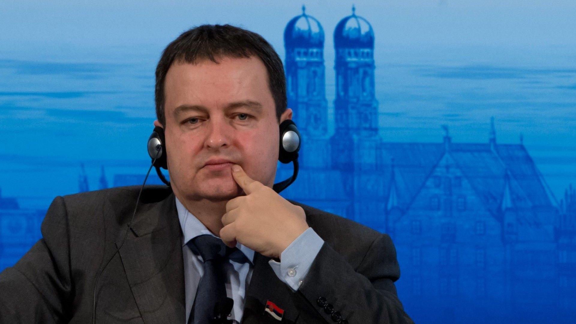 Ивица Дачич към Бойко Борисов: Позицията на ЕС не е, че Косово е независимо