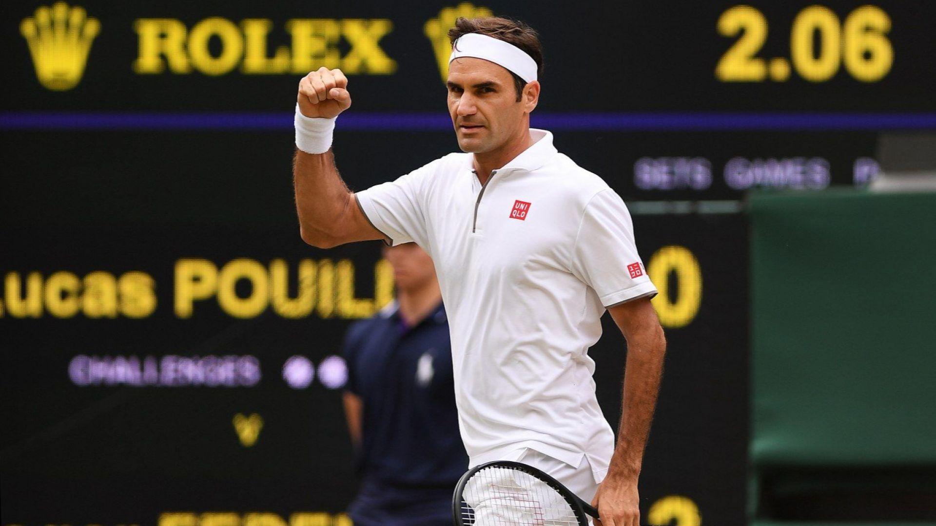Федерер нямаше проблеми да подобри рекорд на Джими Конърс