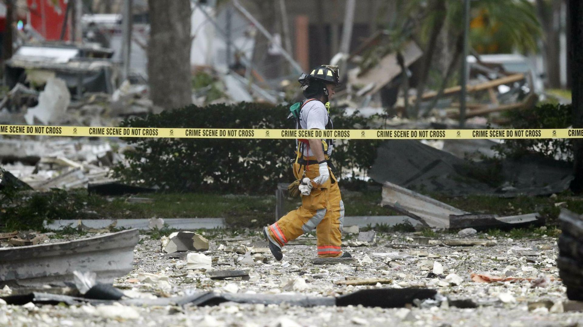 Над 20 ранени при мощна експлозия във Флорида (снимки)