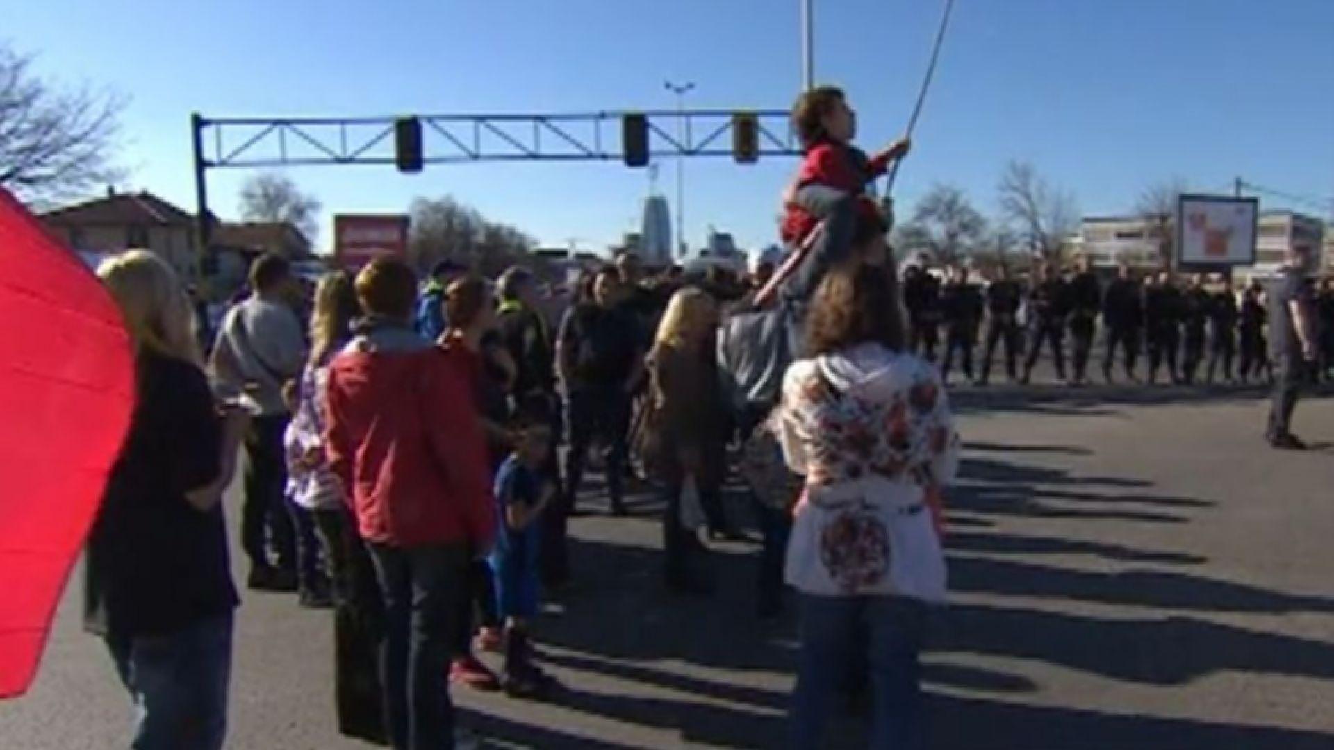 "Жители на ""Горубляне"" пак блокират ""Цариградско шосе"""