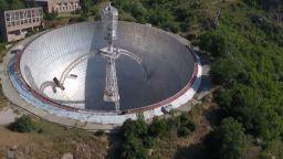 Дрон засне изоставен супертелескоп от ерата на СССР (видео)