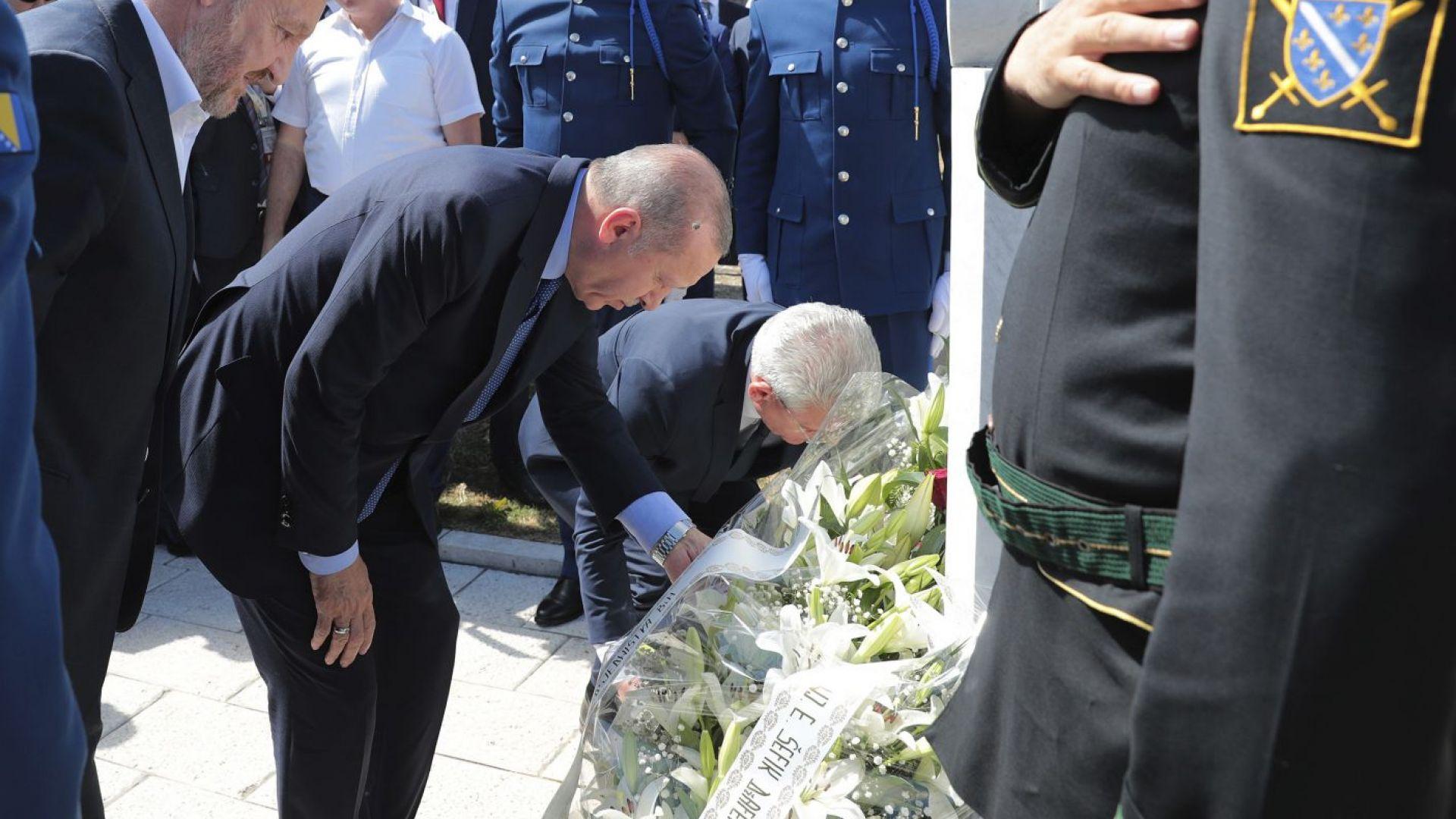 Охраната на Ердоган извади оръжие срещу полицаи на летище Сараево