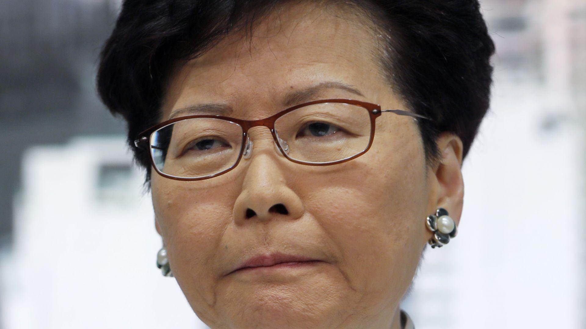 Лидерката на Хонконг прогнозира икономическо цунами заради протестите