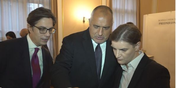 Бойко Борисов с македонския президент Стево Пендаровски и сръбския премиер Ана Бърнабич