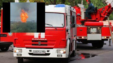 Огромен пожар избухна в руска ТЕЦ край Москва (видео)