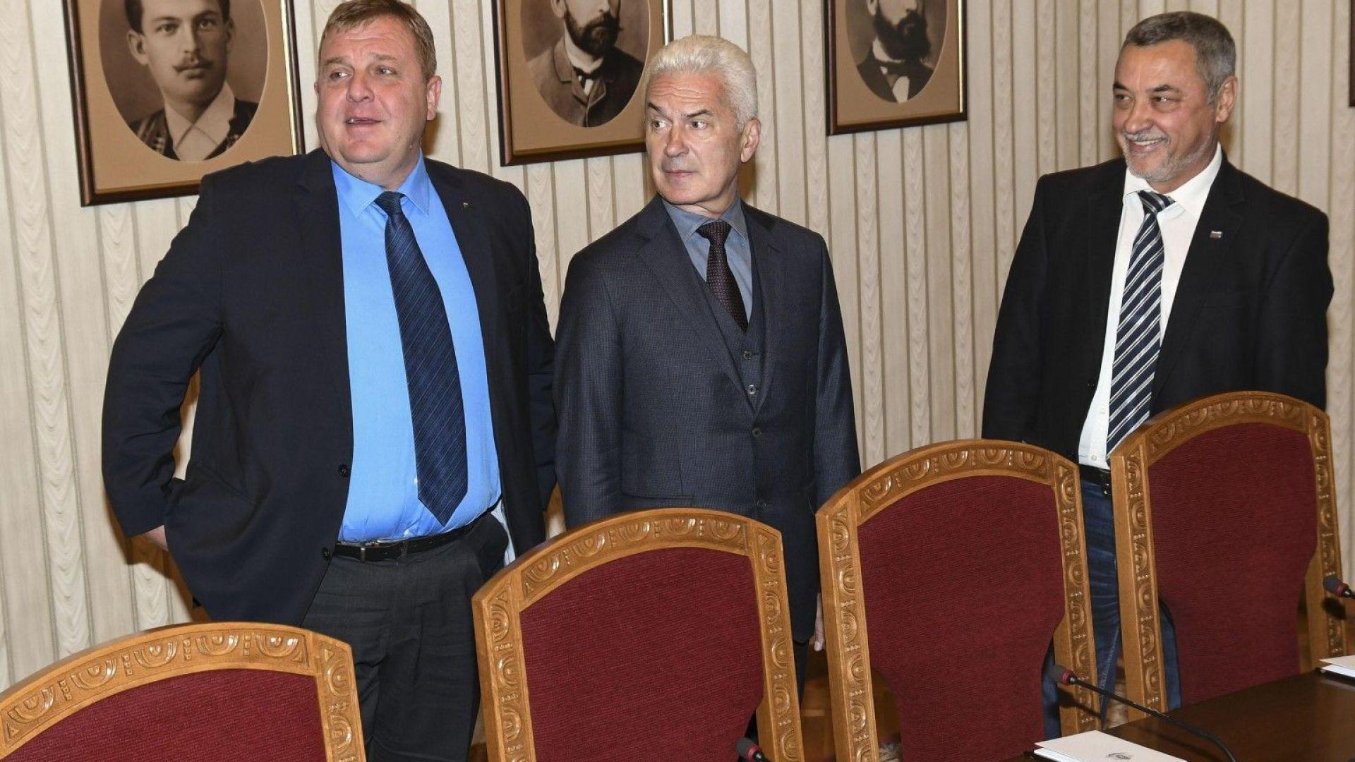 Каракачанов и Симеонов отказаха среща на Сидеров