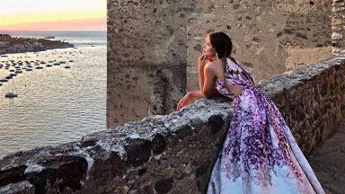 Саня Борисова като принцеса в Иския