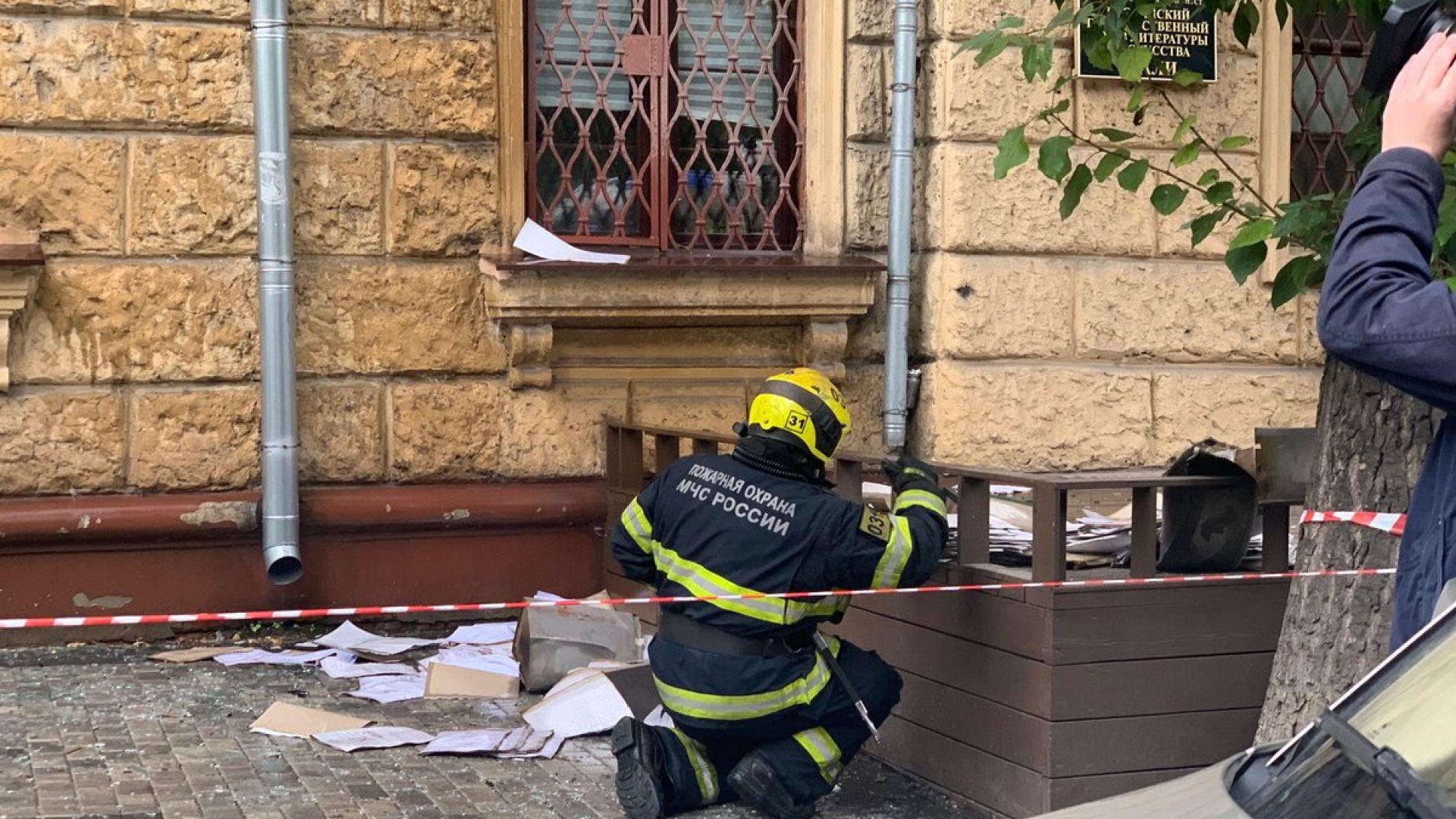 Пожарът в архива в Москва е овладян, изведнъж огънят обхванал 150 квадрата