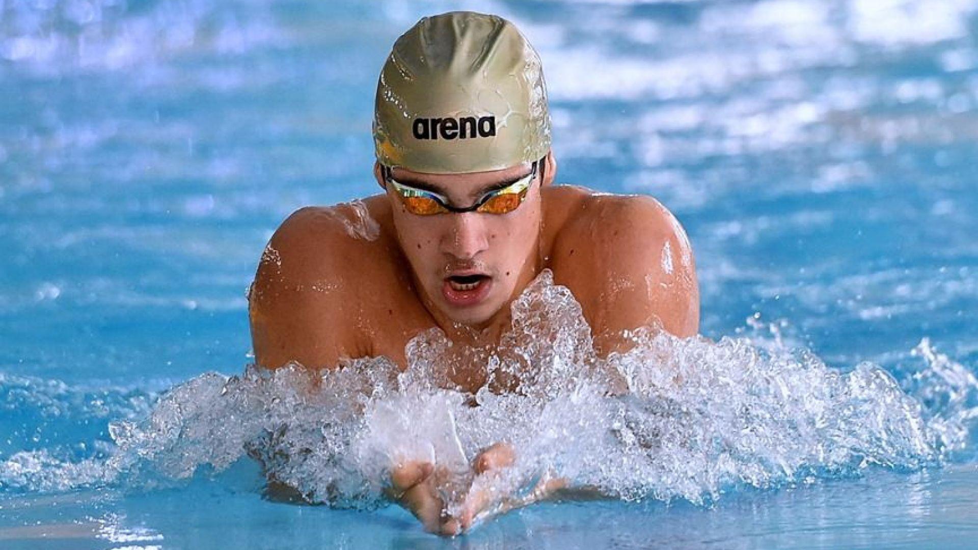 Светлозар Николов с титла на 200 м съчетано от държавното първенство по плуване