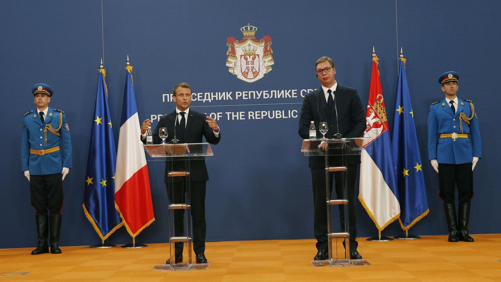 Делегациите на Франция и Сърбия подписаха днес 22 споразумения от