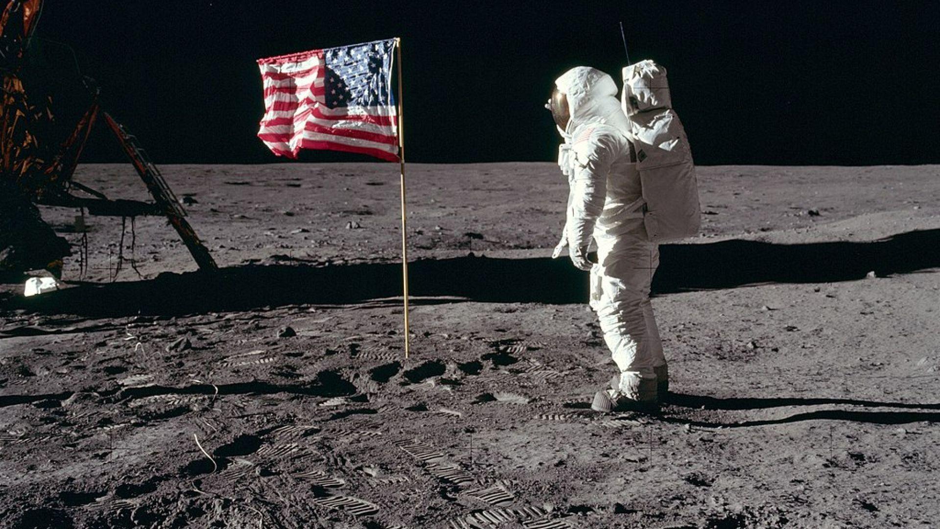 САЩ са първата и единствена държава, изпратила хора на Луната