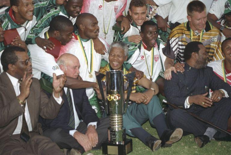 Мандела с отбора, спечелил купата през 1996 г.