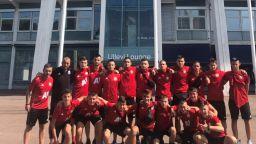 Скандали и прекратен мач за юношите на ЦСКА в Швеция
