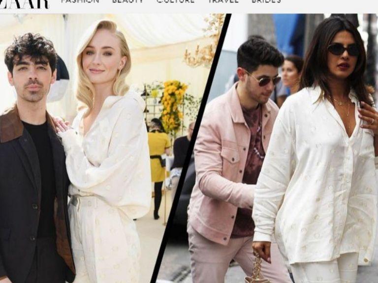 Приянка Чопра и Софи Търнър в пижамата на Виктория Бекъм