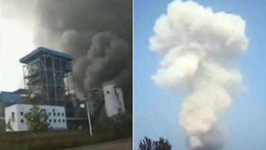 Двама загинали и 12 в неизвестност след експлозия в китайски завод