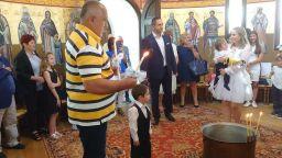 Борисов стана кръстник на двамата си внуци (снимки)